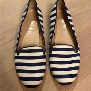 J. Crew CLEO Leather and Canvas Flats Size 8